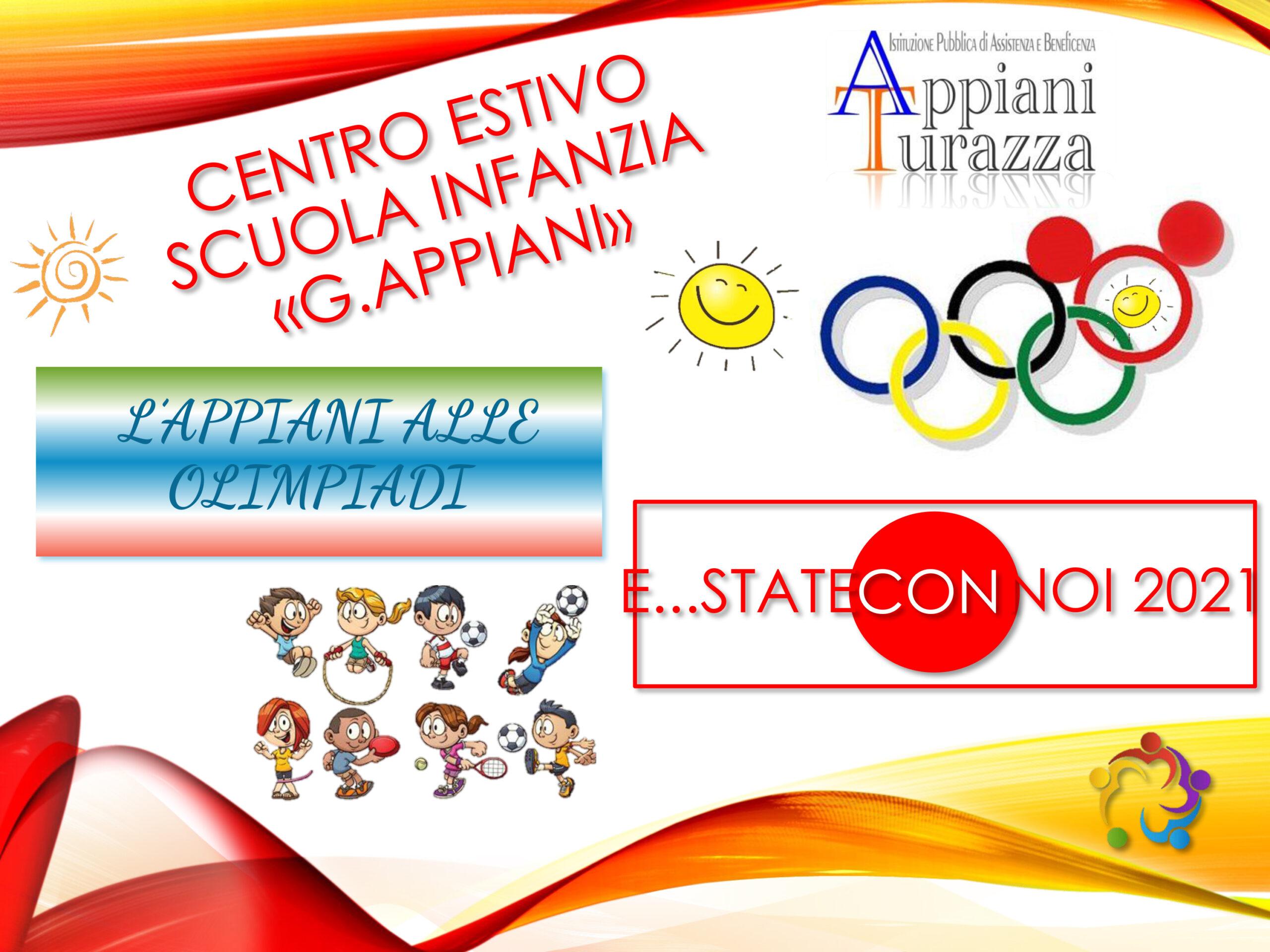 You are currently viewing APERTURA ISCRIZIONI CENTRO ESTIVO MESE DI LUGLIO 2021